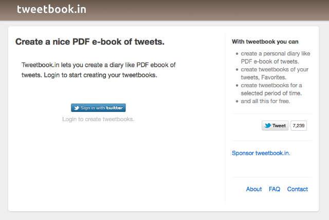 book of tweets