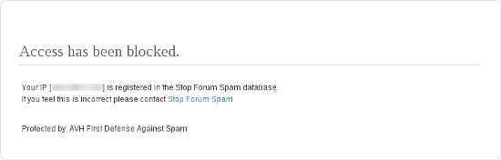 AVH First Defense Against Spam